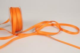 A797UN Orange satin ribbon 10mm x 35m