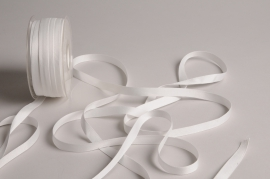 A799UN White satin ribbon 10mm x 35m