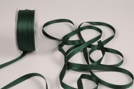 A805UN Green satin ribbon 10mm x 35m