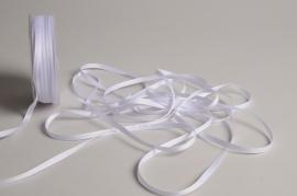 A806UN White satin ribbon 5mm x 70m