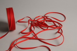 A810UN Red satin ribbon 5mm x 70m