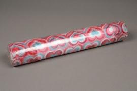 A811GM Rouleau de non tissé coeur rose bleu 30cm x 5m