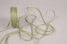 A814UN Green satin ribbon 5mm x 70m