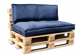 A818DQ Set 2 coussins en tissu bleu 80x120cm