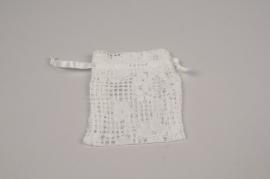 A820UN Paquet de 10 sacs dentelle blanc H12cm