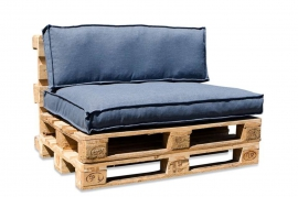 A822DQ Set of 2 blue fabric cushions 80x120cm