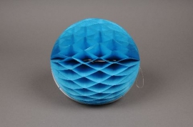 a823gm Blue paper  ball hanging D25cm