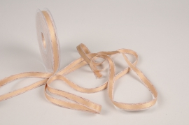 A824UN Brown and pink ribbon 10mm x 15m