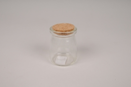 A865UN Fiole en verre avec bouchon D5cm H7cm