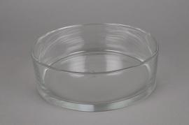 A907IH Cylindric glass vase diameter 25cm height 8cm