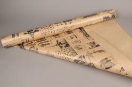 A915QX Kraft paper roll metropolitain 0,80x40m