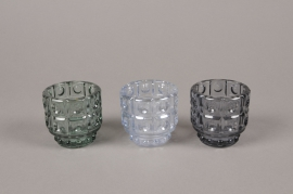 A972LE Assorted glass light holder D6cm H6cm