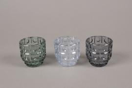 A972LE Photophore en verre assortis D6cm H6cm