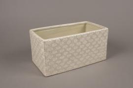 A977LE White ceramic planter 14cmx26cm H13cm