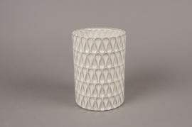 A978LE White ceramic vase D13.5cm H19cm
