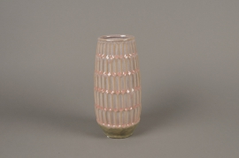 A979LE Pink ceramic vase D11cm H25cm