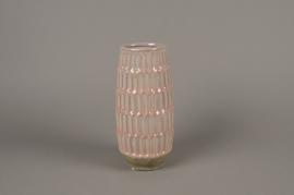 A979LE Vase en céramique rose D11cm H25cm