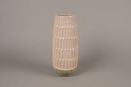 A980LE Pink ceramic vase D12cm H30cm