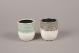 A995LE Assorted ceramic planter D8cm H9cm