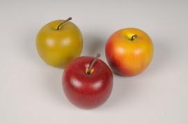 af07eh Boîte de 12 pommes artificielles assorties D7cm