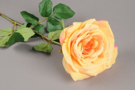 x288fp Artificial peach rose H72cm