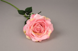 x045jp Rose artificielle rose H70cm