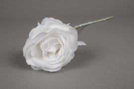 x433di Artificial rose white H44cm