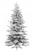 X927KI Artificial snow-covered alaskan Christmas tree diameter 145cm height 210cm