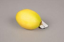 x049ee Artificial yellow lemon D5.5cm H8cm