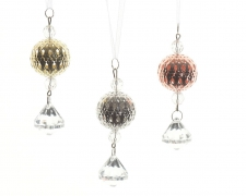 X592KI Assorted pendants with wire ball H11cm