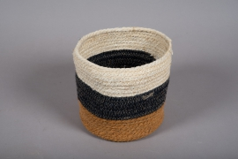B002DQ Cache-pots tressés tricolor D21cm H19cm