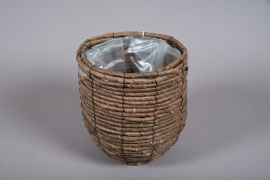 B006DQ Weaved planter basket D21cm H23cm
