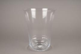 B006IH Vase en verre évasé H24cm
