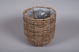 B007DQ Weaved planter basket D25cm H28cm