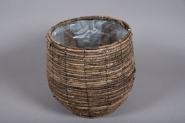 B008DQ Weaved planter basket D33cm H33cm