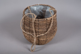 B011DQ Weaved planter basket to hang D33cm H33cm