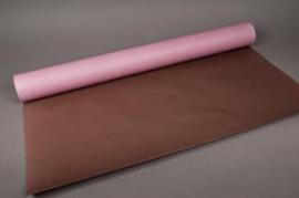 B014QX Rouleau de papier kraft parme / chocolat 0,8x50m