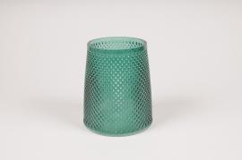 B030IH Vase en verre vert D13cm H15cm