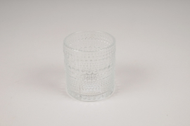 B037IH Clear glass vase D7.5cm H8cm