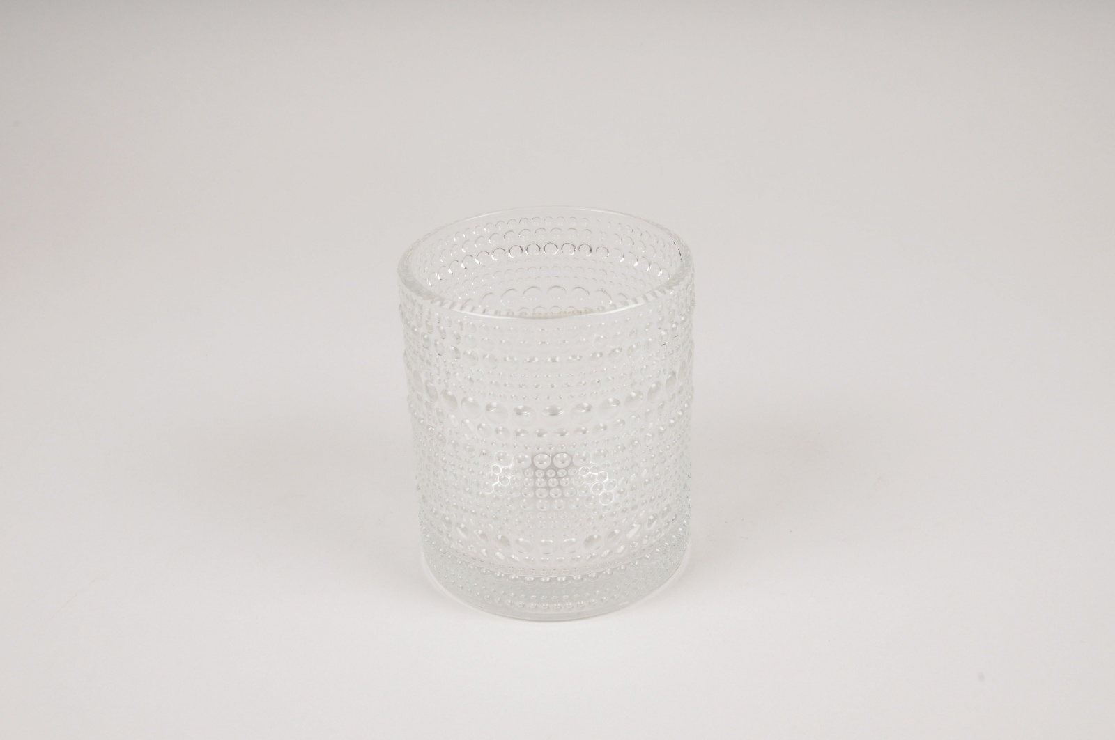 B038IH Vase en verre transparent D9cm H10cm