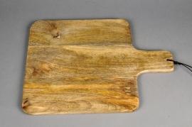 B039DQ Planche à découper en bois déco L30cm H40cm