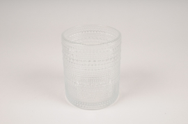 B039IH Clear glass vase D10cm H12.5cm