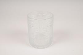 B039IH Clear glass vase D10cm H12.5cm