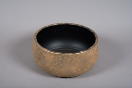 B042DQ Gold ceramic bowl D34.5cm H16.5cm