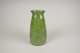 B045IH Green glass vase D12.5cm H23cm