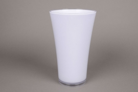 B066QX Vase en plastique blanc D16.5cm H27cm