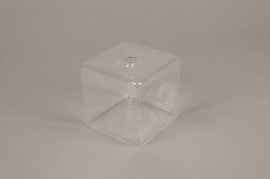 B076WV Soliflore cube en verre 8x8cm H8cm