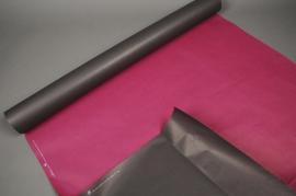 B096QX Kraft paper roll grey/ pink 0,8x50m