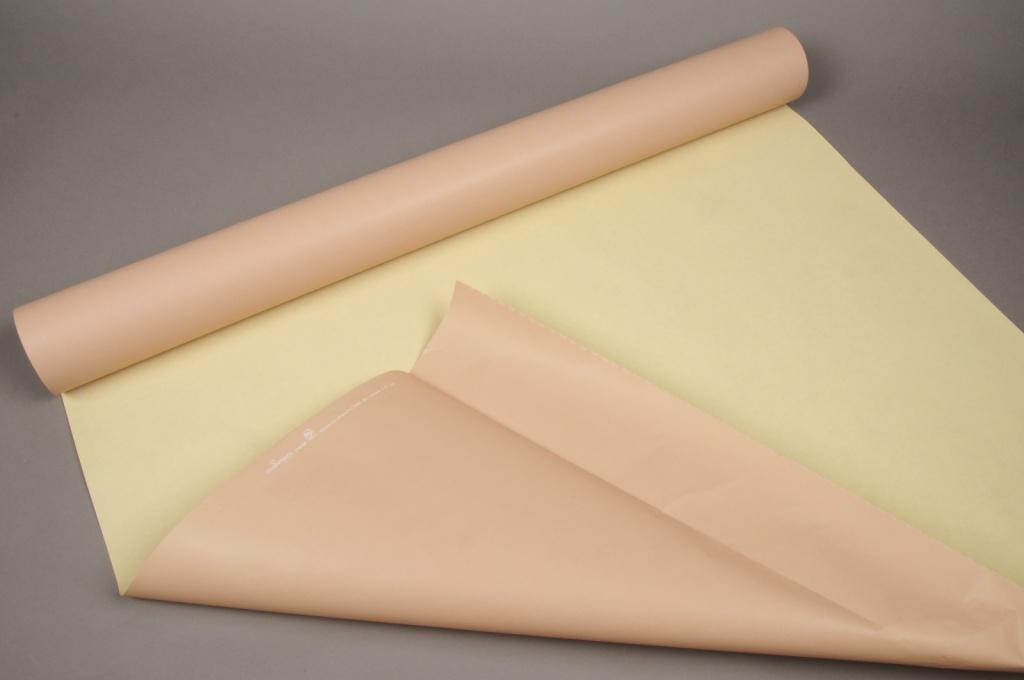 B097QX Rouleau de papier kraft sable / paille 0,8x50m