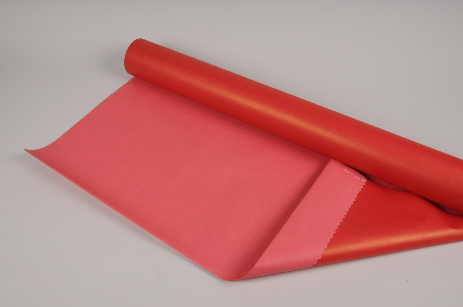 B135QX Rouleau de papier kraft rouge 80cmx40m